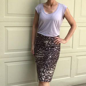 J CREW wool silk leopard pencil skirt 4